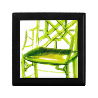 chinoiserie chair for place card gift box