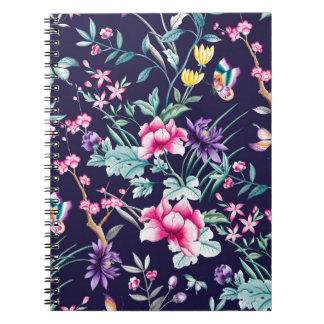 CHINOISERIE - NAVY BASE NOTEBOOKS