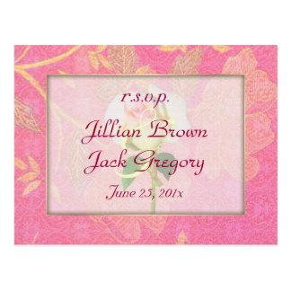 Chinoiserie Wedding RSVP Postcard