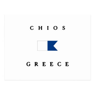 Chios Greece Alpha Dive Flag Postcard
