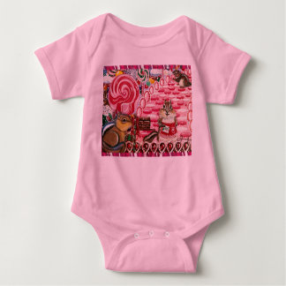 Chip visits Ms. Elizabeth's Peppermint World Baby Bodysuit