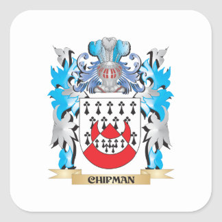 Chipman Coat of Arms - Family Crest Square Sticker