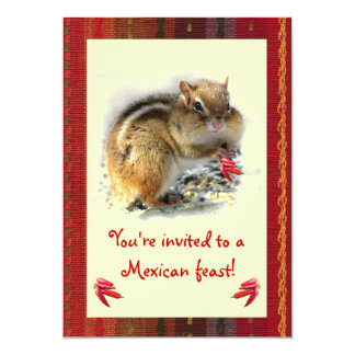 Chipmunk Mexican Feast Invitation