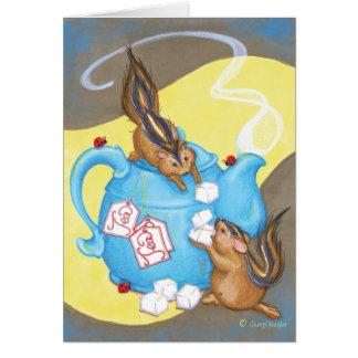 Chipmunk Tea Party Notecard