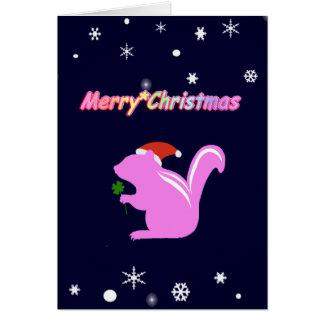 chipmunk's Christmas Card