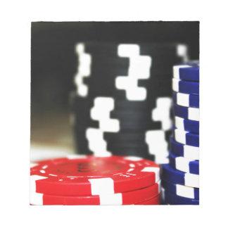 Chips Gambling Casino Win Game Luck Risk Bet Notepad