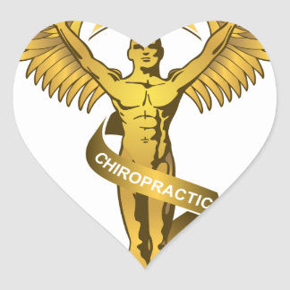 Chiropractic Angel Heart Sticker