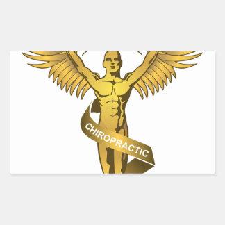 Chiropractic Angel Rectangular Sticker