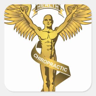 Chiropractic Angel Square Sticker