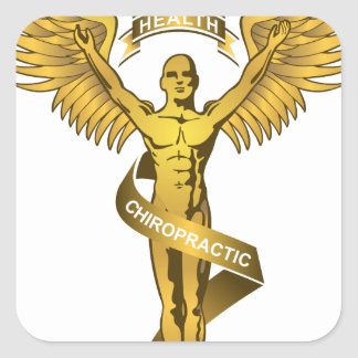 Chiropractic Angel Square Sticker