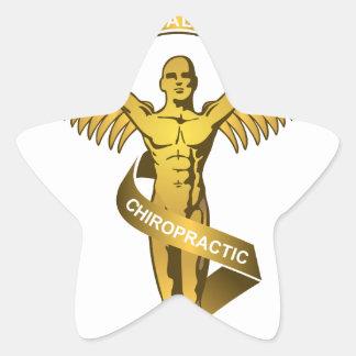 Chiropractic Angel Star Sticker