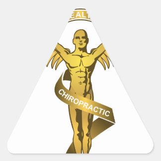 Chiropractic Angel Triangle Sticker