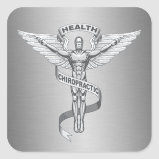 Chiropractic Emblem Logo Stickers