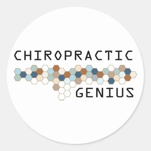 Chiropractic Genius Stickers