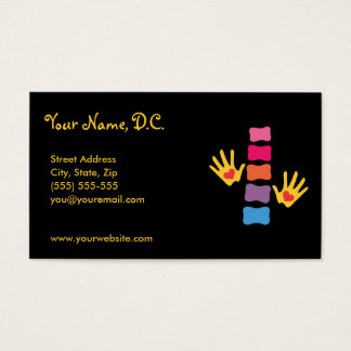 Chiropractic Hands & Spine Business Cards