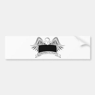 Chiropractic Health Angel Sign Symbol Car Bumper Sticker