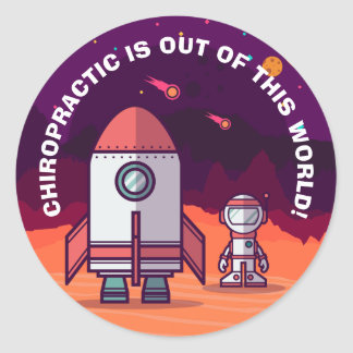Chiropractic Is Out of This World Kids Stickers