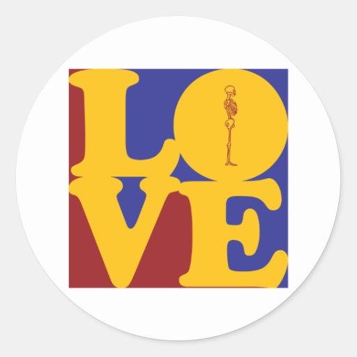 Chiropractic Love Round Stickers
