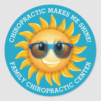Chiropractic Makes Me Shine Custom Kids Stickers