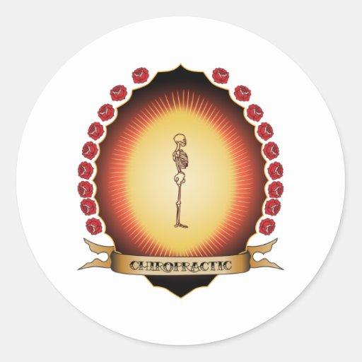 Chiropractic Mandorla Round Sticker