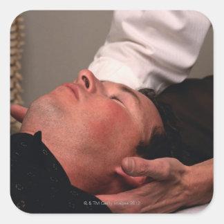 Chiropractic Manipulation Square Sticker