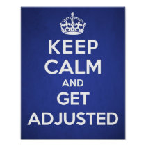 Chiropractic poster - Keep calm and get adjusted Print