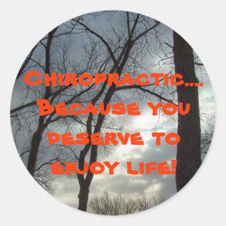 chiropractic round sticker