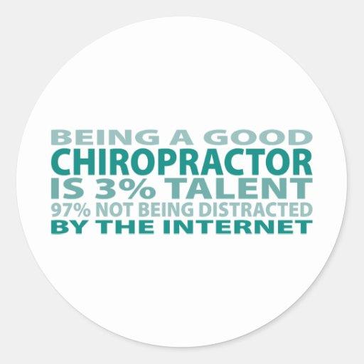 Chiropractor 3% Talent Round Sticker