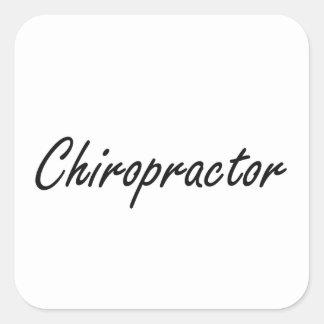 Chiropractor Artistic Job Design Square Sticker