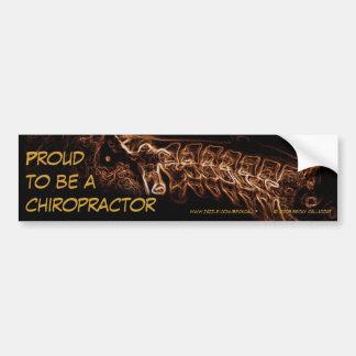 Chiropractor bumper sticker (brown c-spine) car bumper sticker