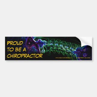 Chiropractor bumper sticker (multi-color c-spine) car bumper sticker