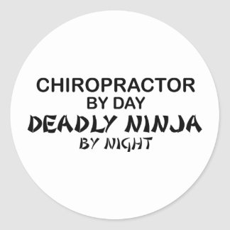 Chiropractor Deadly Ninja by Night Classic Round Sticker