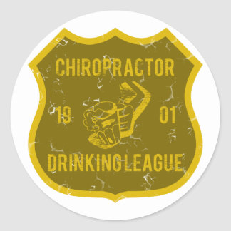 Chiropractor Drinking League Classic Round Sticker