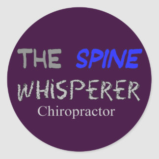 "Chiropractor Gifts ""The Spine Whisperer"" Classic Round Sticker"