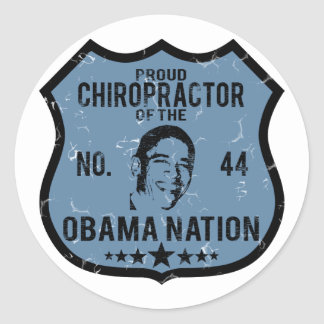 Chiropractor Obama Nation Classic Round Sticker