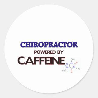 Chiropractor Powered by caffeine Round Stickers