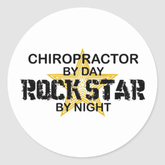 Chiropractor Rock Star by Night Classic Round Sticker