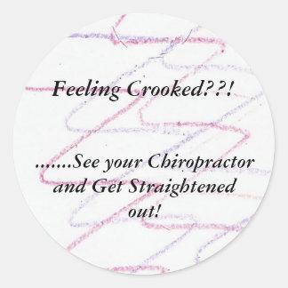 Chiropractor stickers.. round sticker