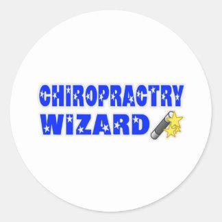 Chiropractry Wizard Round Stickers
