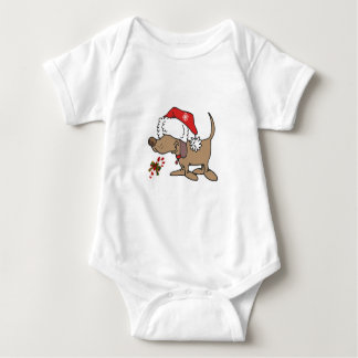 CHIRSTMAS PUPPY SHIRT FOR BABY