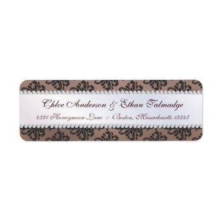 Chloe Silk Damask Couples Address Label