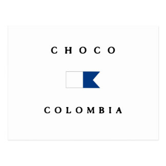Choco Colombia Alpha Dive Flag Postcard