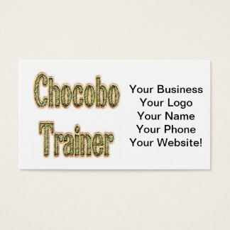 Chocobo Trainer Gold Business Card