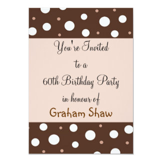 Chocolate and Vanilla 60th Birthday Card