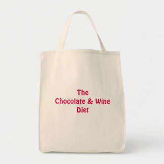 Chocolate and Wine Shopping Tote Bag