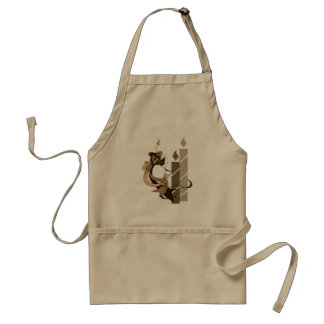 Chocolate Birthday Cake Fish and Candles Apron