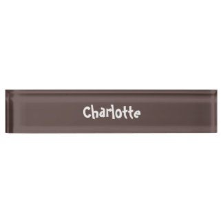 Chocolate Brown Personalized Desk Nameplate