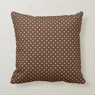 Chocolate Brown Polka Dots Pillows