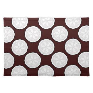 Chocolate Brown & White Designer Placemat Gift