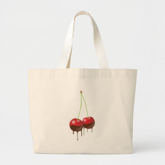 Chocolate cherries tote bags